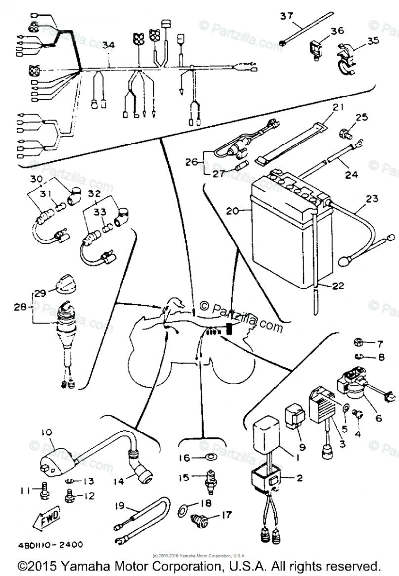 Yamaha Timberwolf 5 Engine Diagram di 2020Pinterest