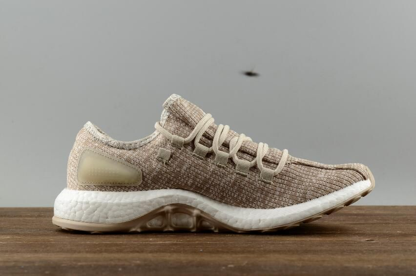 aa682af7f943d Authentic Adidas Men s Shoes Pure BOOST Cream Yellow Leisure Running Shoes  S82099  40-45