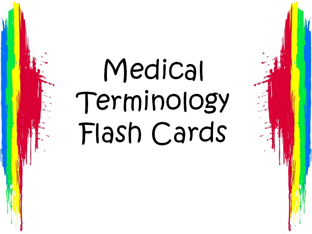 Free Medical Terminology Flash Cards Color Prefixes And