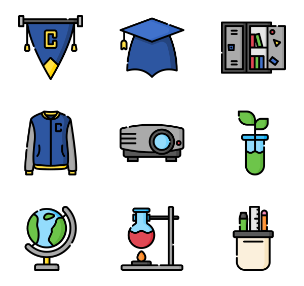 50 Premium Vector Icons Of College Designed By Freepik In 2020 Education Icon Cute Icons Icon