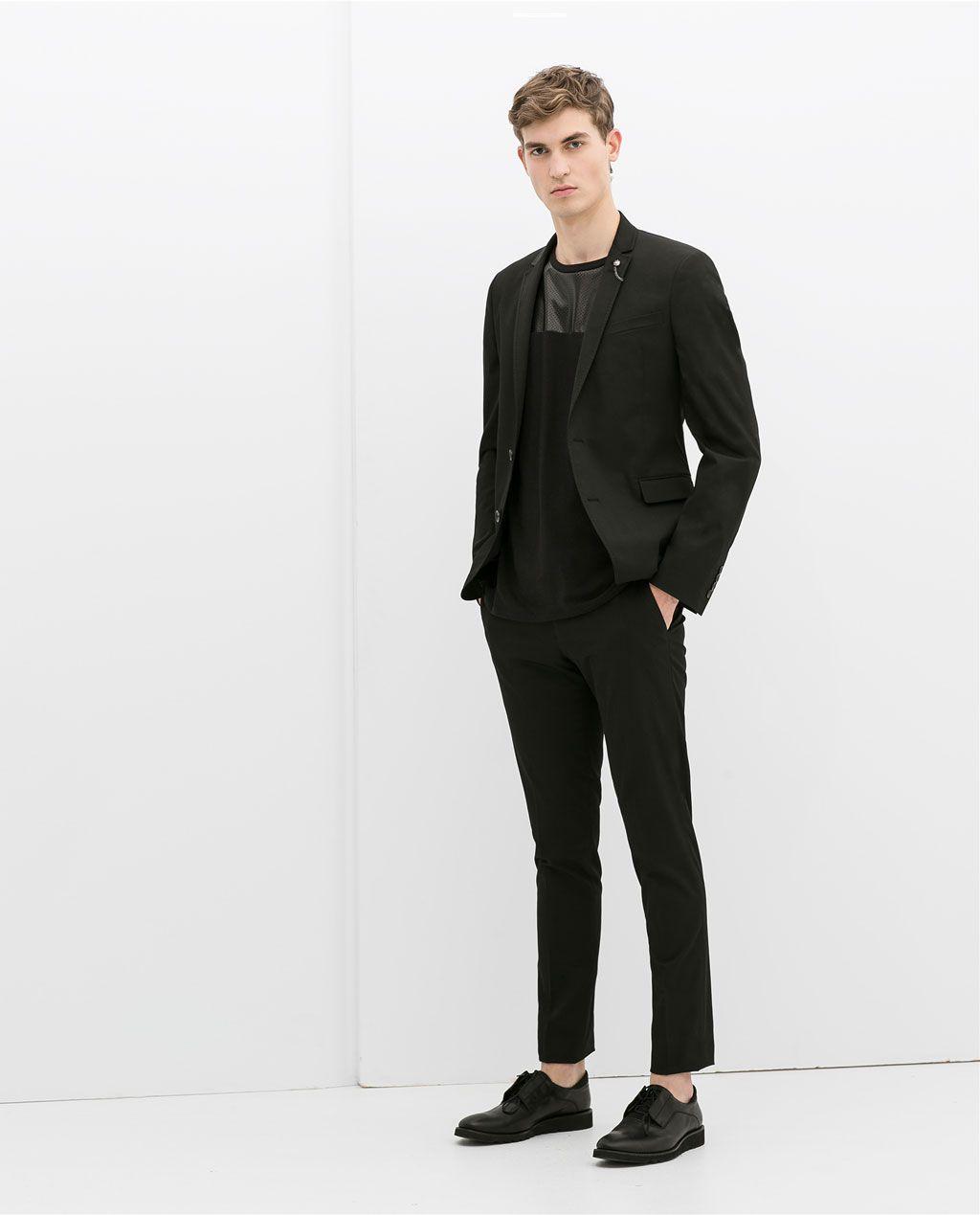 Vestido smoking negro zara