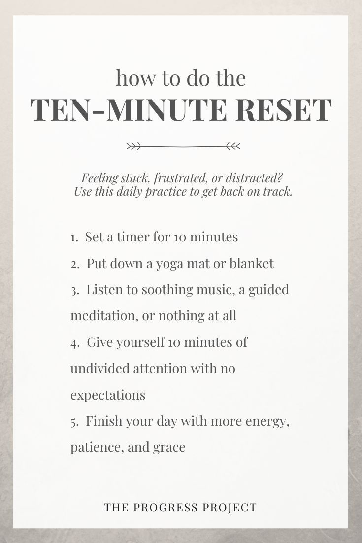 Ep. 94 Ten Minute Reset (Bonus Episode!) — The Progress Project