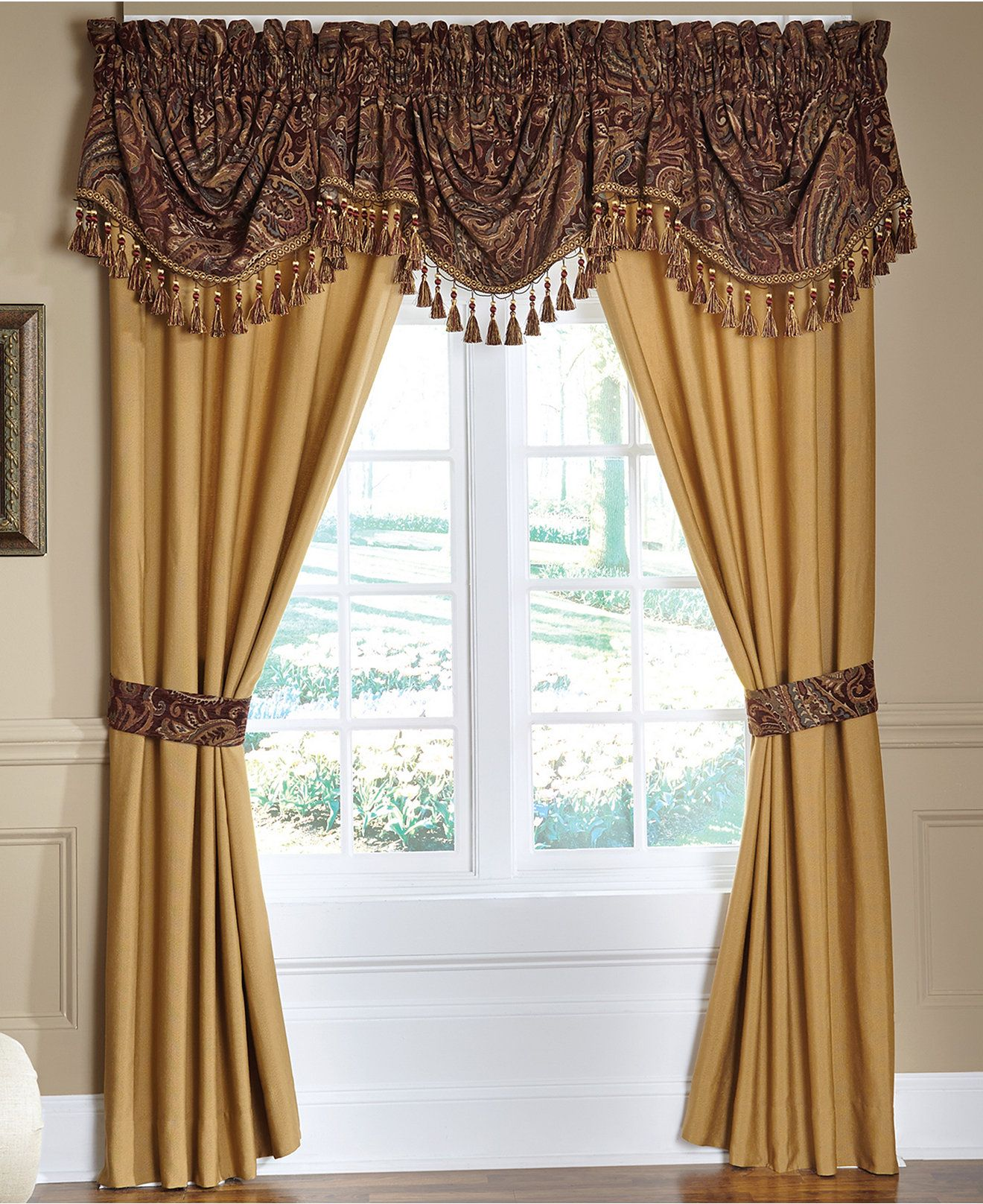 Croscill Regalia 44 x 28 Swag Window Valance - Bedding Collections ...
