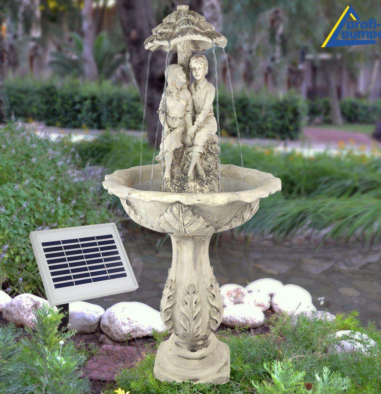 Springbrunnen Die Liebenden In 2020 Solarbrunnen Springbrunnen Solarbrunnen Garten
