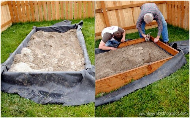 DIY Sandbox. Very easy tutorial! Making one! Scott will be making this for the kids this spring!!! :)