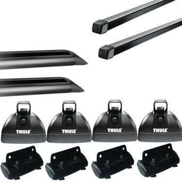 Thule Podium Square Bar Roof Rack w/42 Inch Tracks for Sheet Metal