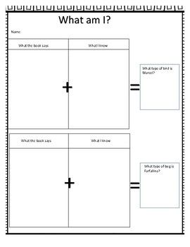 Farfallina And Marcel Inference Worksheet Book Inspired Activities