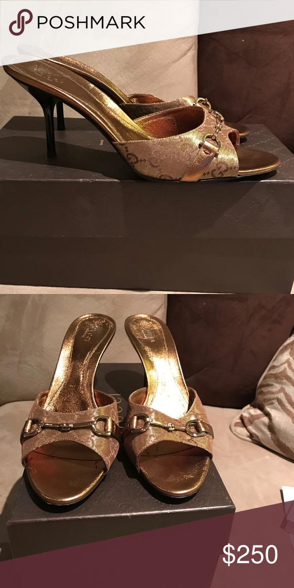 728d8214e86 Vintage Gucci Kitten Heels 100% Authentic Great condition. Matching bag  offered in separate listing. Original box included Gucci Shoes