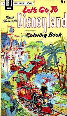 Walt Disneys Lets Go To Disneyland Coloring Book