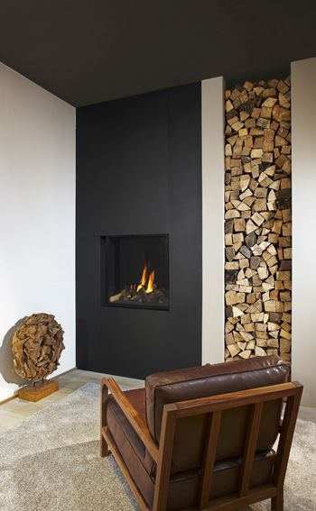 The Design Of This Room Makes The Fireplace Blend In Perfectly