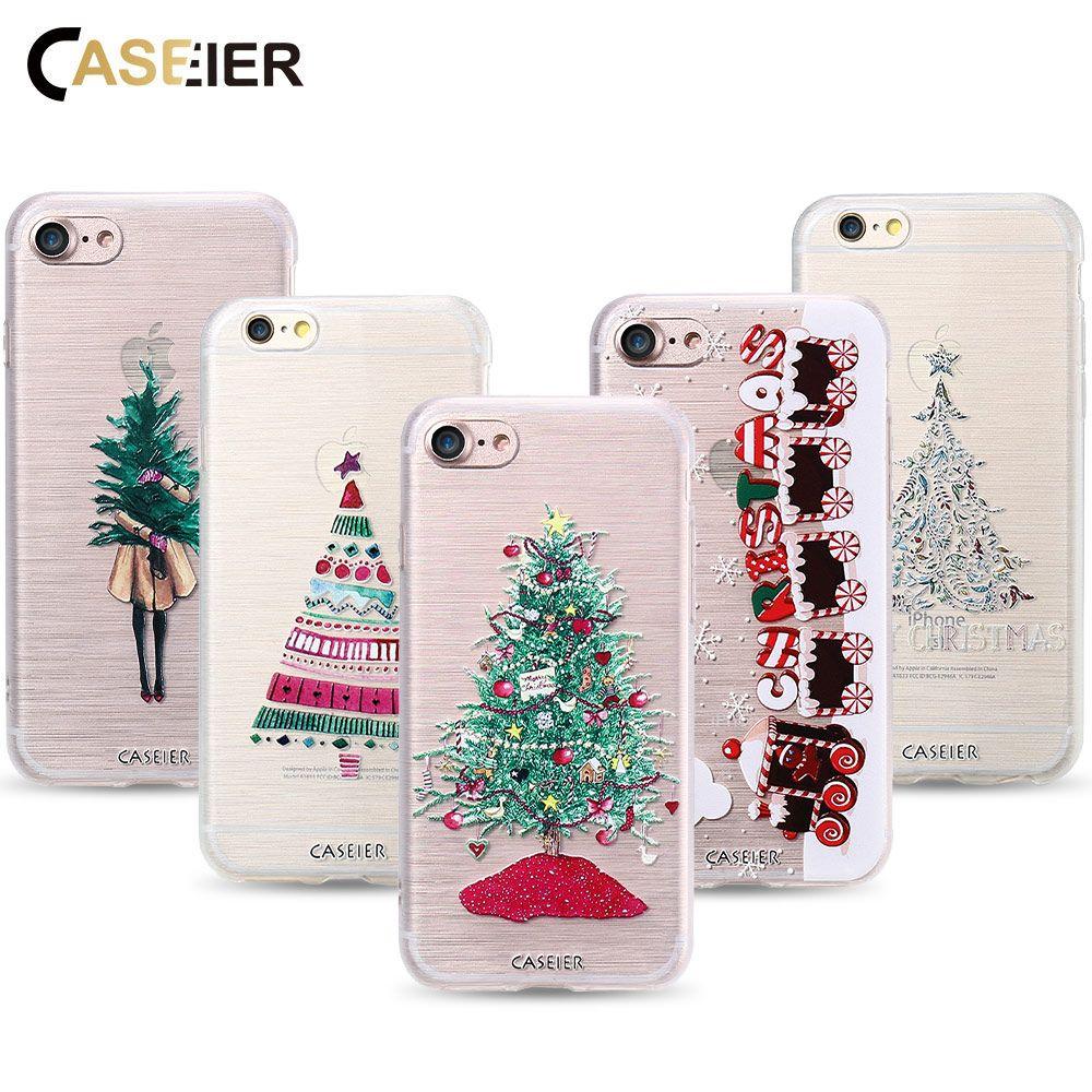 CASEIER Phone Case For iPhone   Plus Soft TPU Merry Christmas