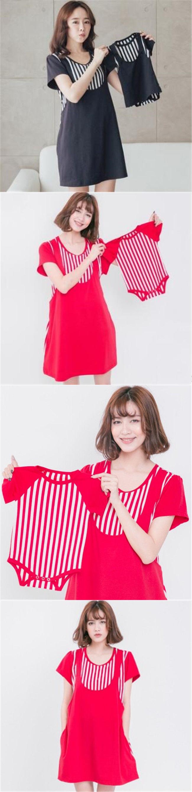9fd10aaf49c8c Dresses 15752: Maternity Pregnant Women Breastfeeding Nursing Dress+Baby  Clothing Red Dark Blue -> BUY IT NOW ONLY: $30.39 on eBay!