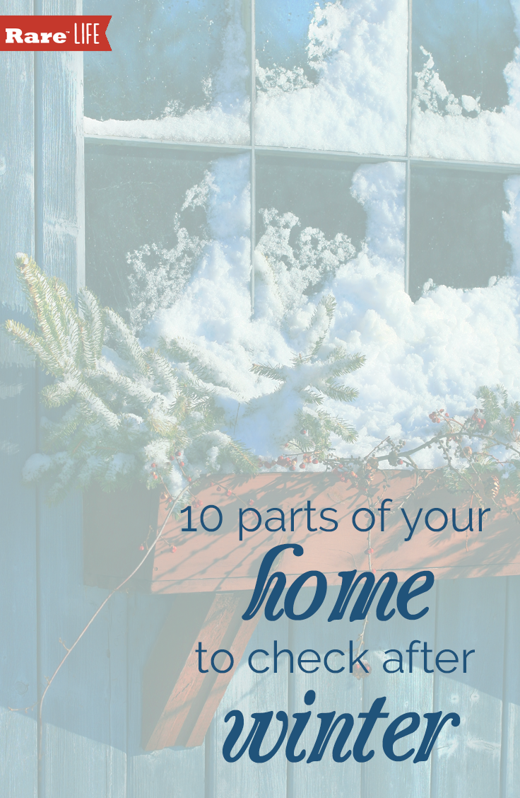 With parts of the country still defrosting, it's important to make sure these parts of your home survived the cold.