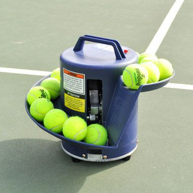 Easy Toss Ball Machine Holds16 Balls Weighs Just 13 Pounds Can Use Low Compression Balls Red Orange Green Tennis Ball Machines Ball Launcher Tennis Gifts