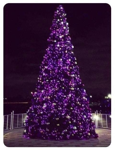Purple Christmas tree Purple in 2018 Pinterest Purple