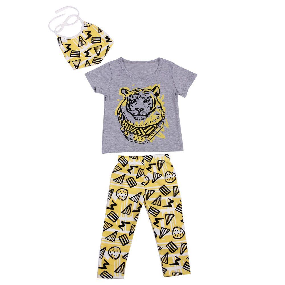 Baby boys clothes set new summer pcs boys short sleeve animal