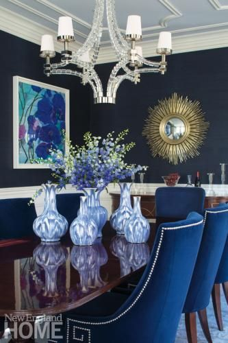 Opposites Enhance | Blue dining rooms, LUSH and Architects