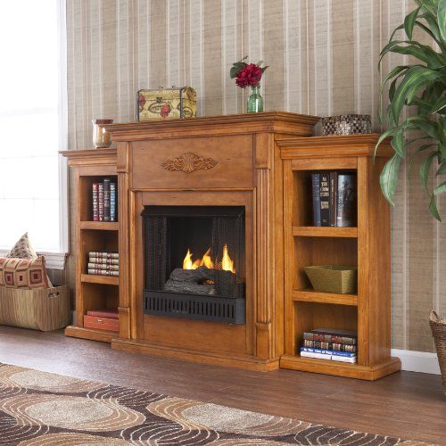 Oak Electric Fireplace TV Stand | ... > Entertainment Furniture > Fireplace > Electric Fireplace Media
