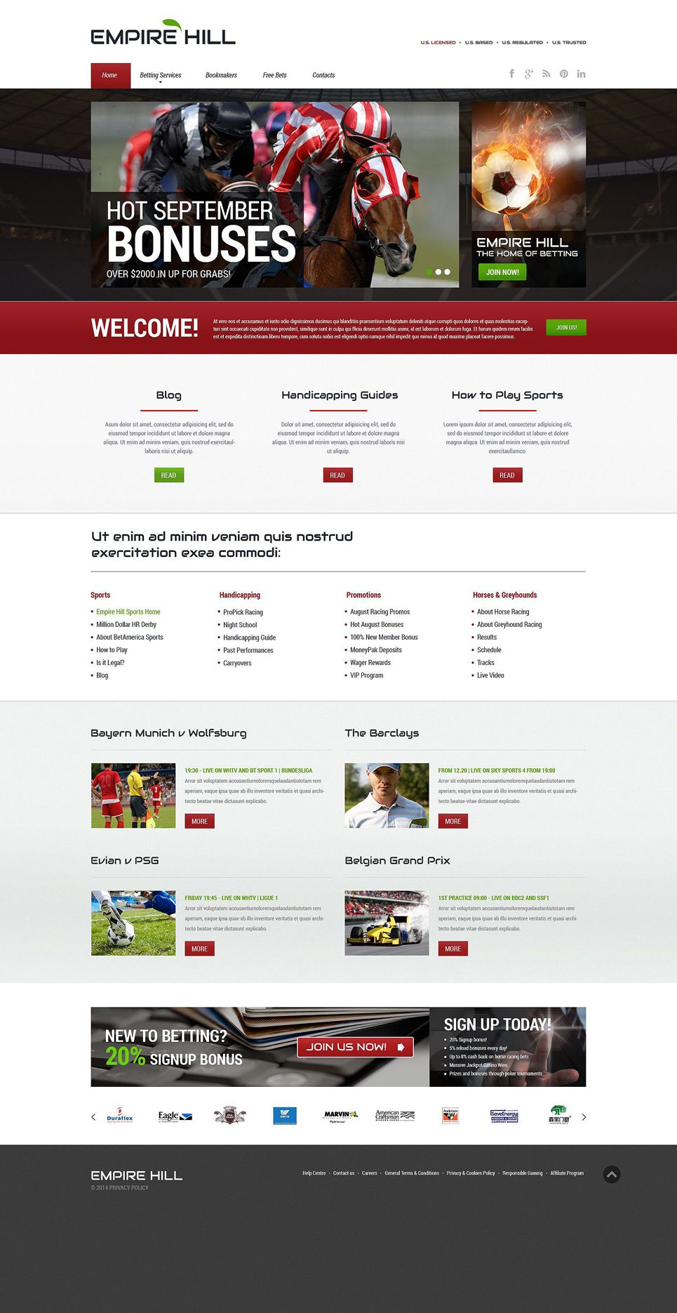 SBet Online Betting Multipage HTML Website Template