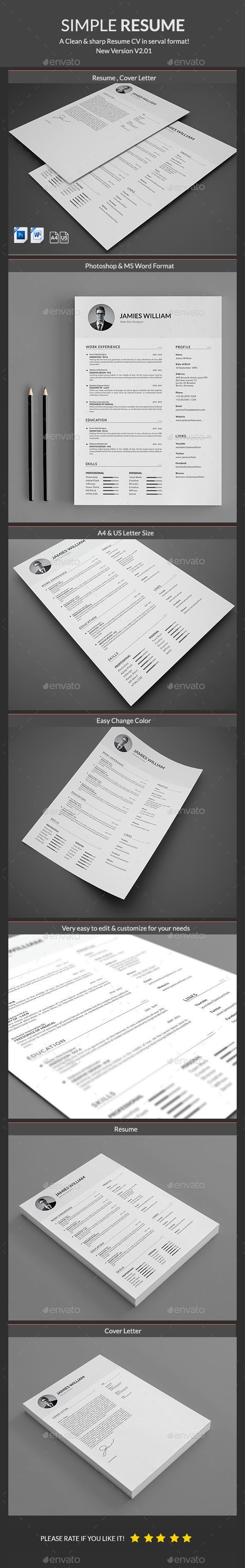 Resume Template PSD. Download here: http://graphicriver.net/item ...