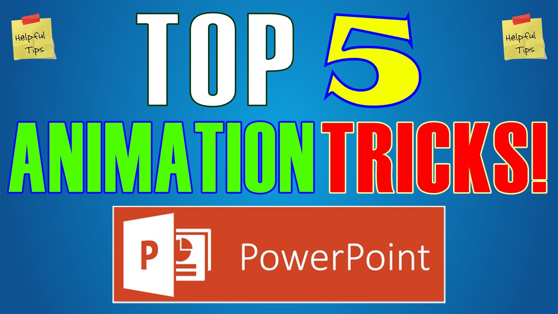 Top 5 Animation Effects & Tricks in Powerpoint 2016 - Best Slideshow