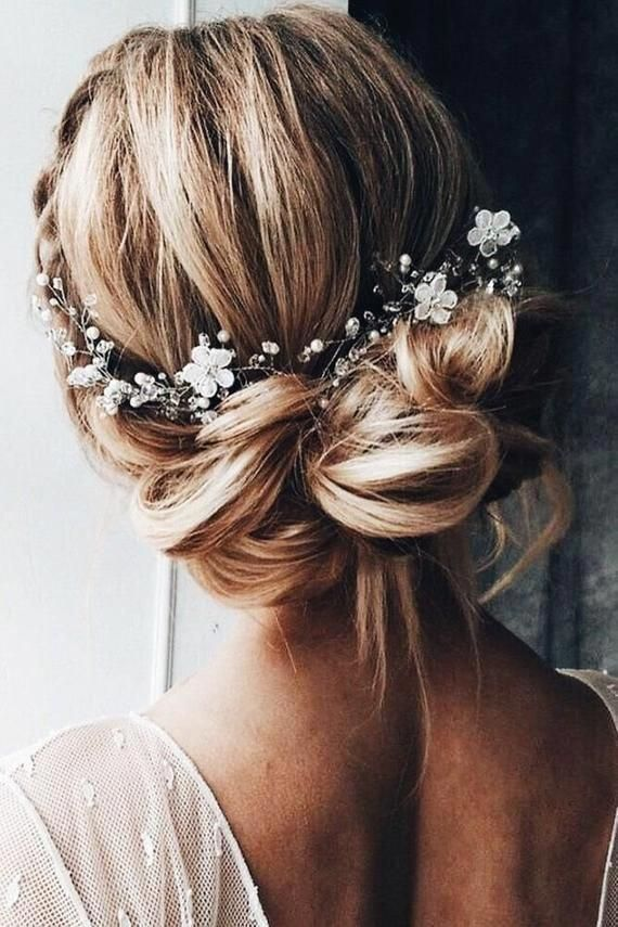 Bridal hair vinewedding hair accessoriesboho floral hair | Etsy