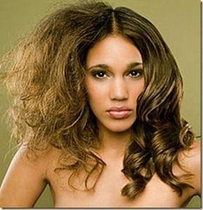 Vinagre para el cabello con frizz