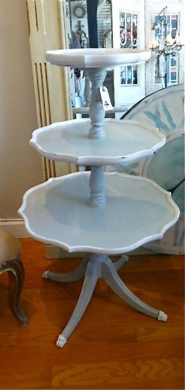 Awesome Vintage Three Tier Table $515 At Caught My Fancy Www.CaughtMyFancy.com