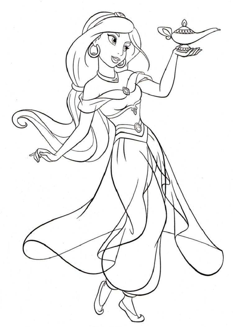 disney princess coloring pages jasmine Dibujos, Dibujos