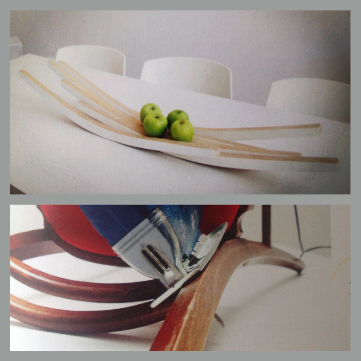 Upcycling by #evypuelinckx: chair legs become fruitbowl