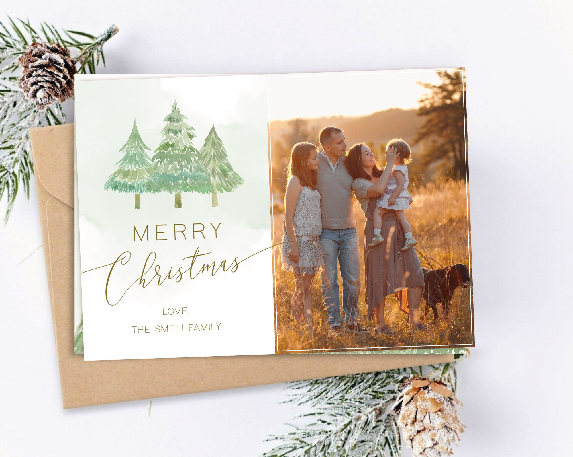 Year In Review Christmas Card Template Editable Card Digital Etsy Holiday Photo Cards Template Photo Card Template Christmas Card Template