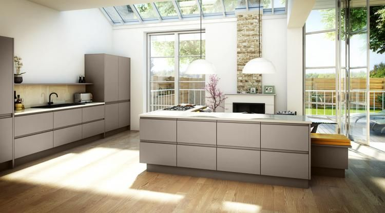 Painted Handleless Kitchen | Kitchen and Bedroom Store | Pebble ...