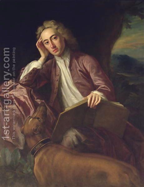 Jonathan Richardson:Alexander Pope and his dog, Bounce, c.1718