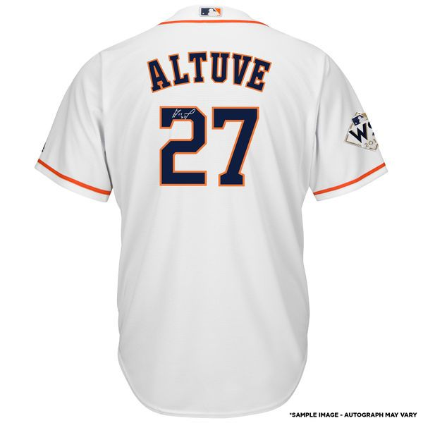 18ac9aa3c Fanatics Authentic Jose Altuve Houston Astros 2017 MLB World Series  Champions Autographed Majestic World Series White Replica Jersey  469.99