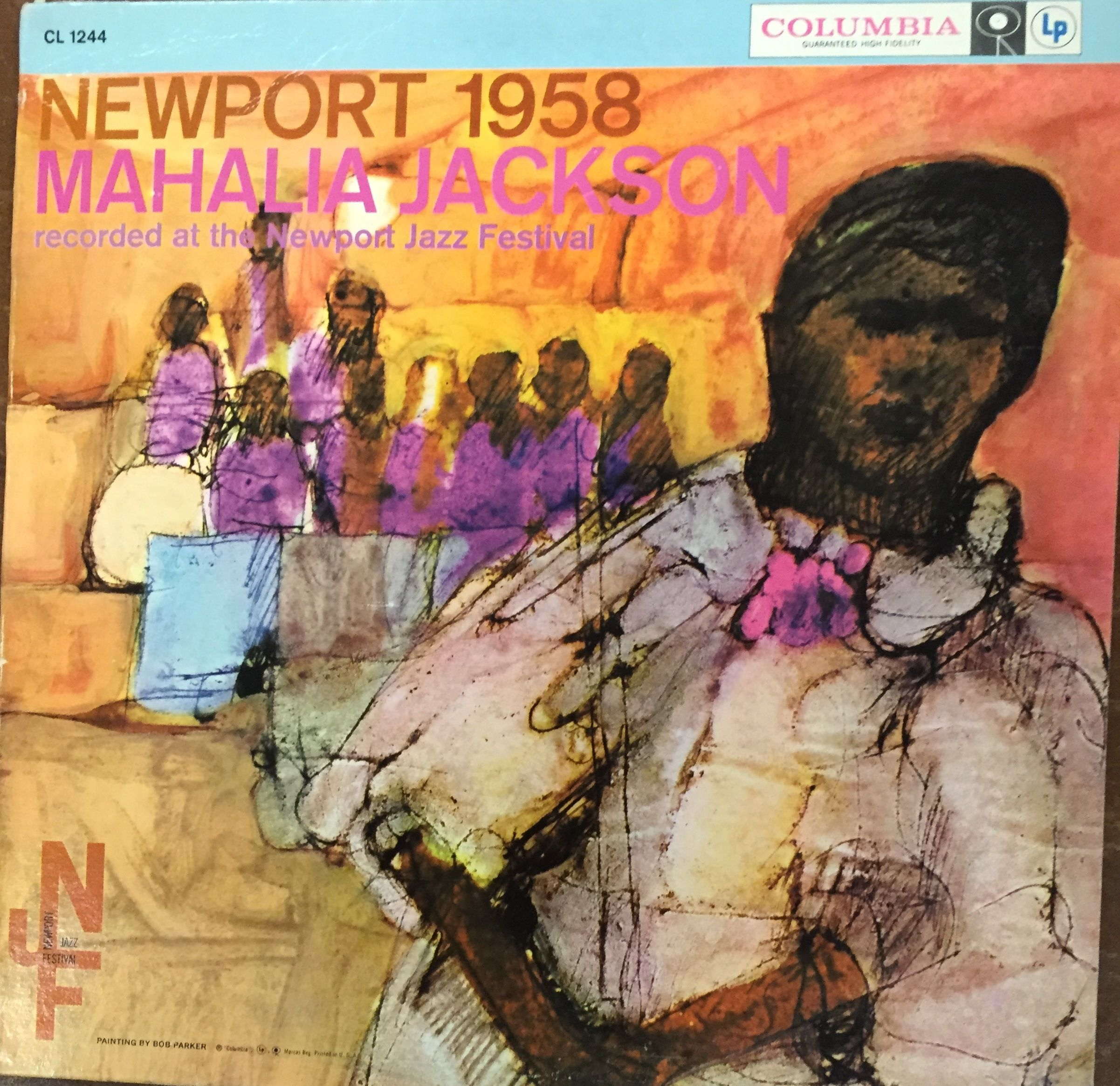 Mahalia Jackson At Newport 1958 Columbia Cl 1277 Not Exactly Jazz But One Of Several Covers In A Newpor Mahalia Jackson Newport Jazz Festival Jazz Festival