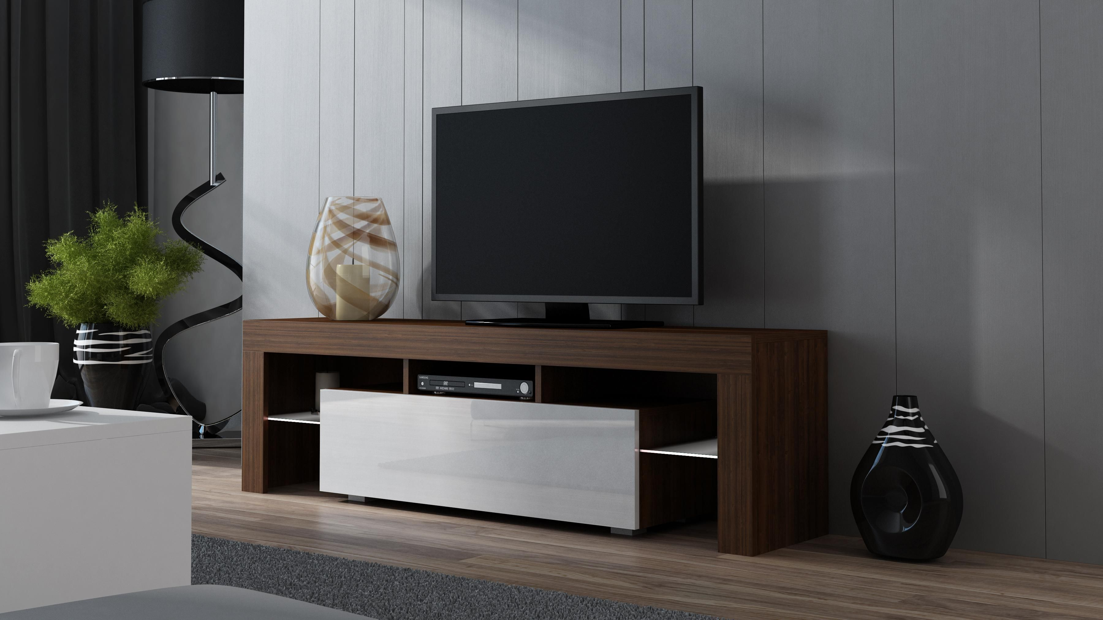 Milano 160 Walnut Modern Tv Stand In 2019 Tv Stand