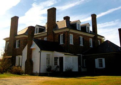 The back if Boone Hall Plantation