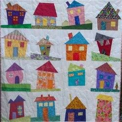 Our Monday's at Monica's quilt group wants to exchange Wonky House ... : wonky quilt - Adamdwight.com