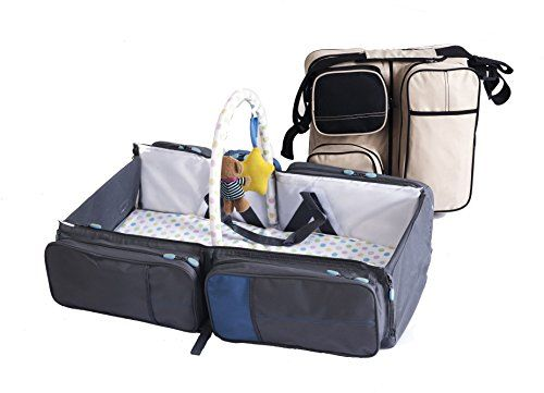 Magical Baby Bag And Travel Bed 9 In 1 Multifunctional Baby Travel Bed Cot Baby Bassinet And Diaper Bag Gra Portable Baby Bed Travel Systems For Baby Baby Bag