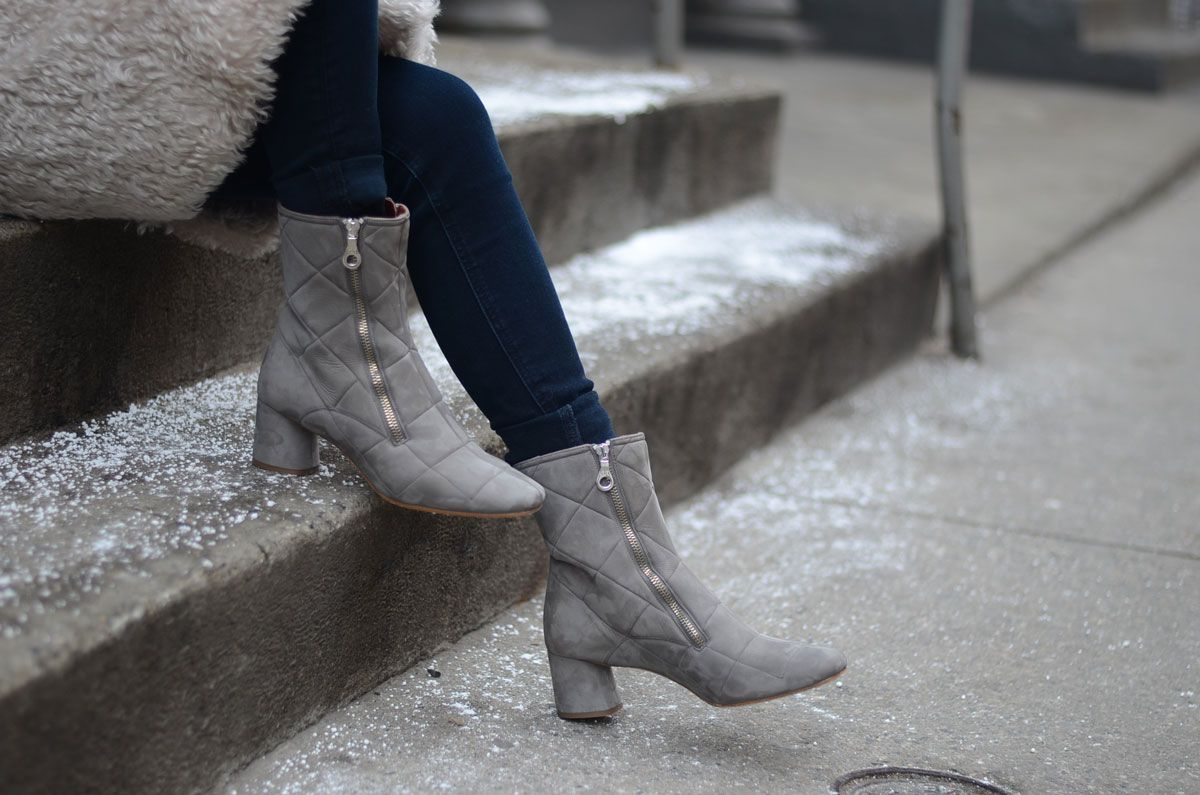 Marc Jacobs Suede Quilted Boots