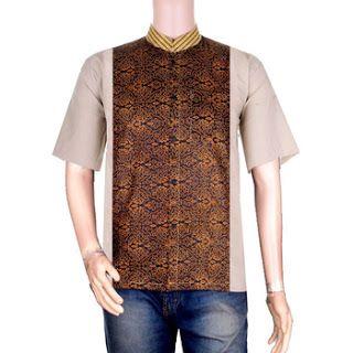 Baju Koko Batik Kombinasi Polos Lengan Panjang dan Pendek ...