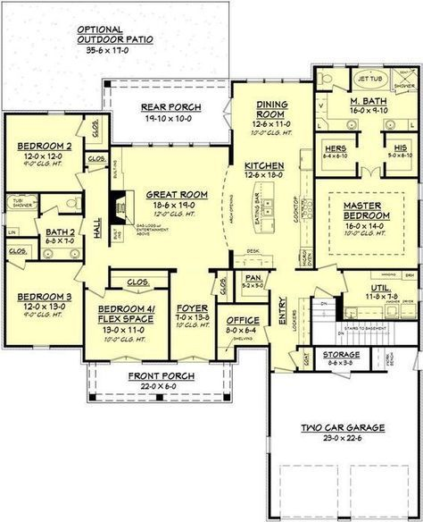 Gatlin House Plan | Open Floor House Plans, Open Floor And Check