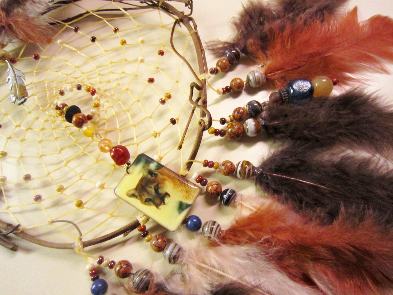 Horse Dancer's Handmade Catamount Dream Catcher by jungleeyejoe on Etsy