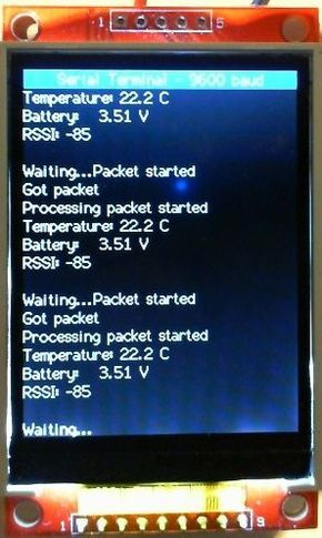 Arduino Serial UART Scrolling Display Terminal Using a 2 2