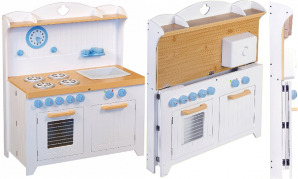 foldable wooden play kitchen sets - save space | Wooden Play ...