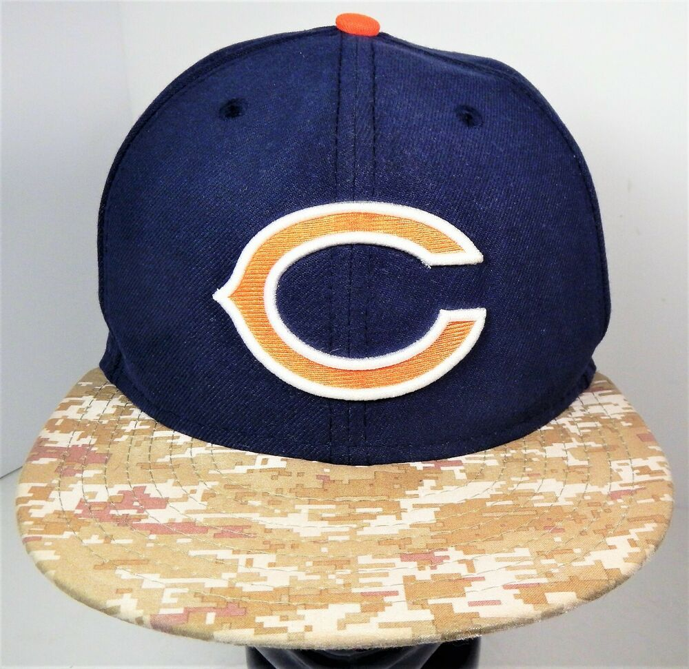 1ba8c5ab New Era 59FIFTY CHICAGO BEARS NFL Salute to Service Fitted Hat Size 7-3/8 # NewEra #ChicagoBears #Chicago #Bears #Football #NFL #Military #Salute  #FittedHat ...