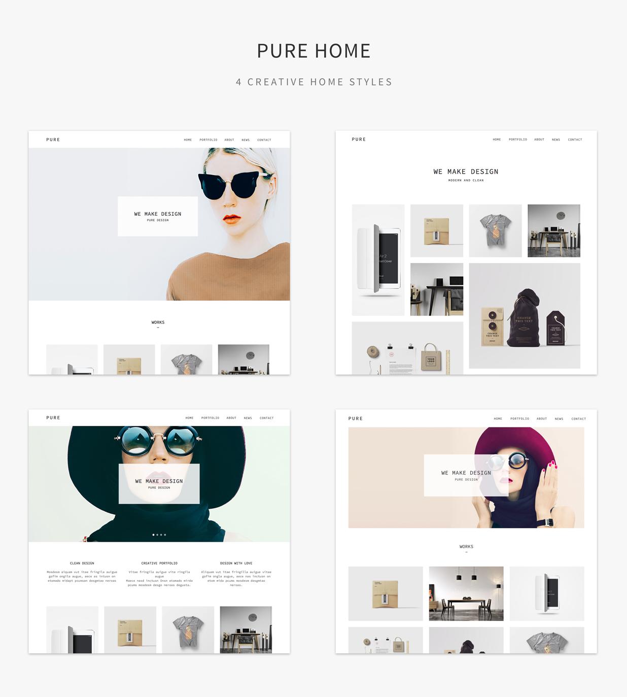 Pure – Creative Portfolio Muse Template Pure – Creative Portfolio ...
