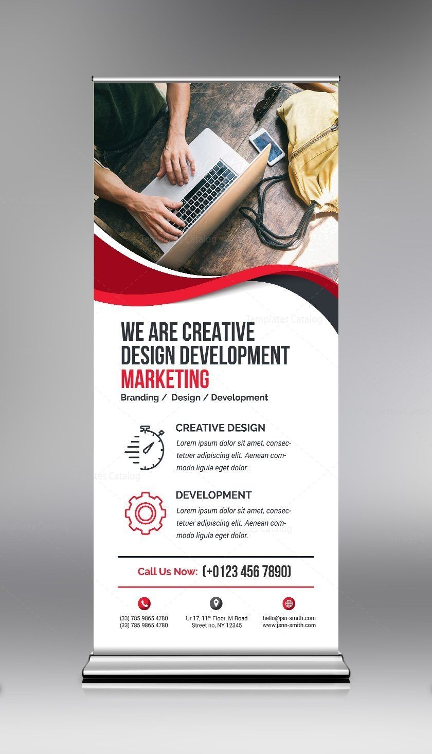 Elegant Psd Roll Up Banner Template Graphic Templates Standing Banner Design Rollup Banner Design Banner Template