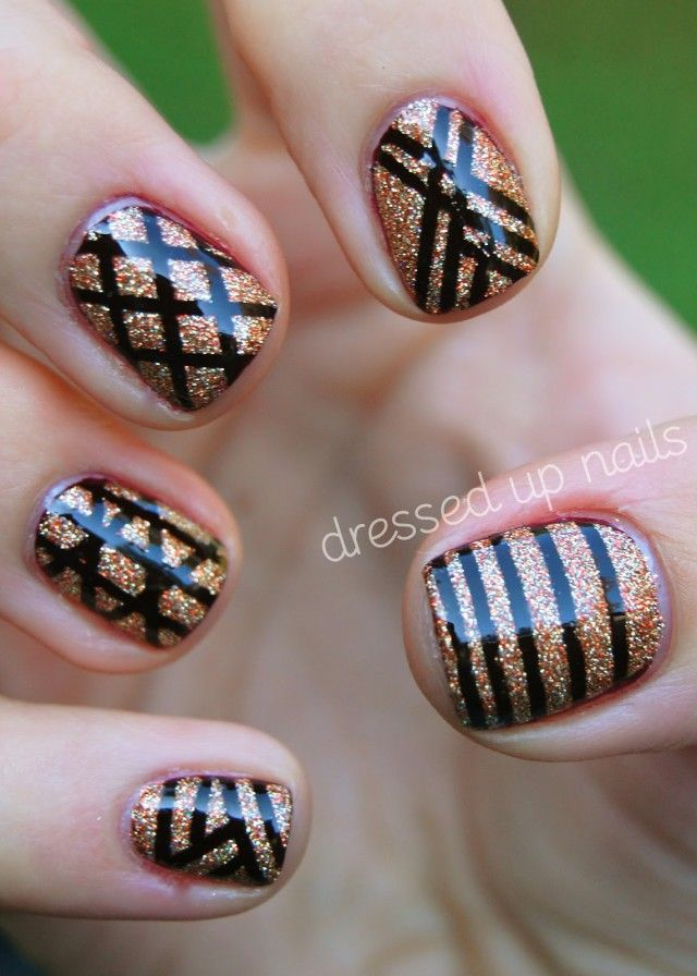 18 Interesting Exemple Nail Art With Striping Tape Nail Art