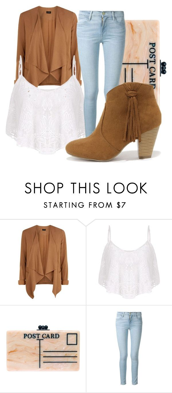 """Untitled #51"" by niecee1995 ❤ liked on Polyvore featuring Edie Parker, Frame Denim and Report"
